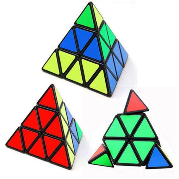 Pyramid Triangle Magic Speed Cube Pyraminx Twist Puzzle Rubik Intelligence Toy