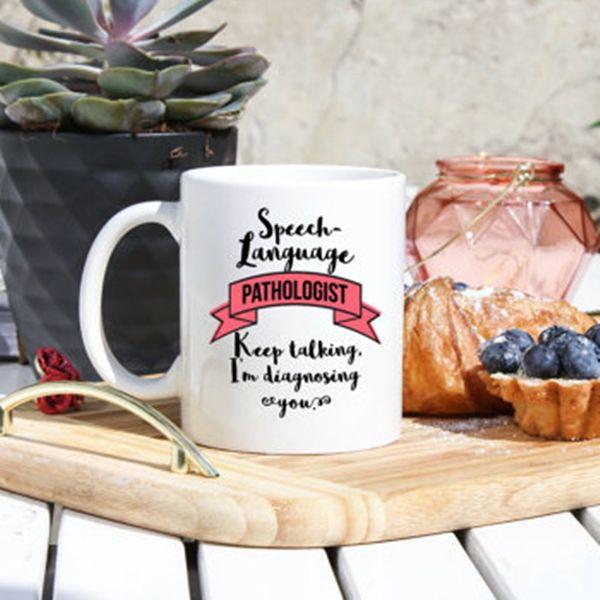 SLP Gifts SLP Mugs Slp Humor 11oz Mug Speech Therapist Gifts - Speech Language Pathologist Coffee Mug Gifts For SLP Keep Talking Im Diagnosing You Speech-Language Gifts