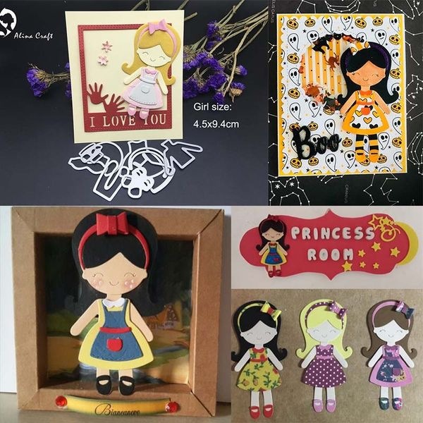 METAL CUTTING DIES cut build up baby girl smile childhood bowknot collage