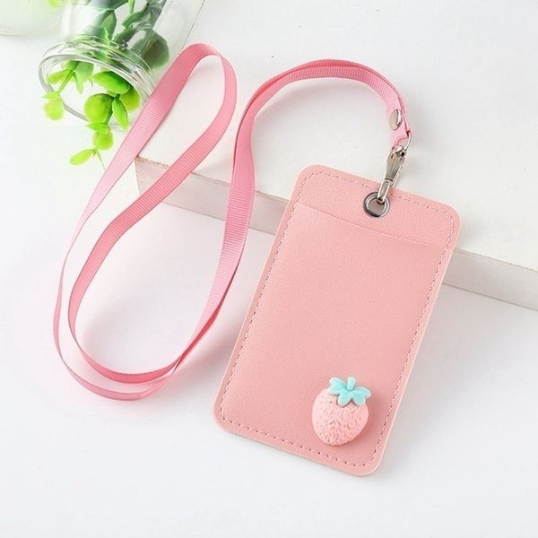 Rabbit PU Leather Bus Card Case Cartoon Card Holder Identity Badge Cards Cover