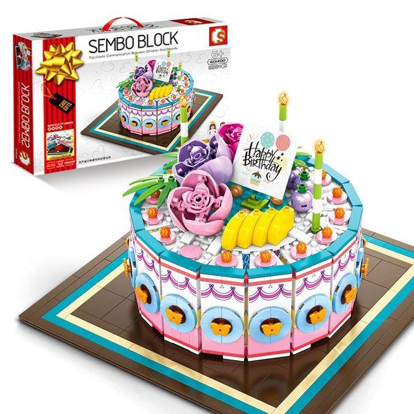 Sensational Sembo Building Blocks Birthday Cake Model Food Toys For Kids Personalised Birthday Cards Veneteletsinfo