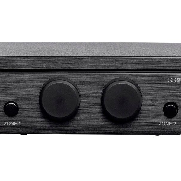 Single 2-Conductor Input Monoprice SS2V70 70V 2-Zone Speaker Selector Individual On//Off Switch and Volume Control 100-Watt
