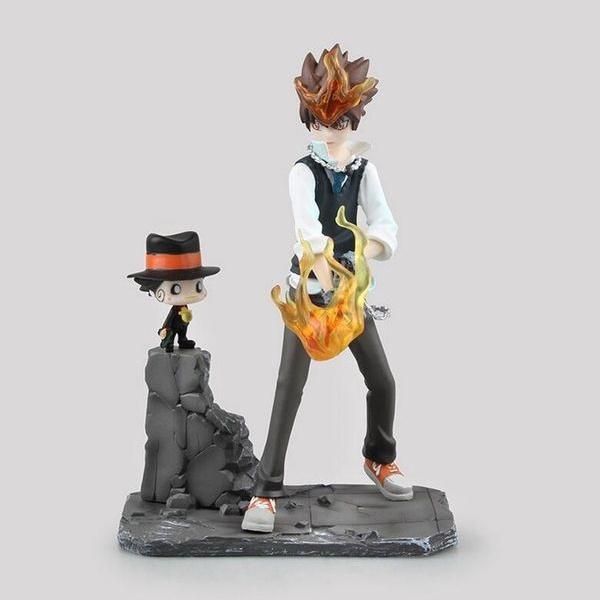 19cm Katekyo Hitman Reborn Sawada Tsuna Anime Cartoon Model Action Figure Quality Toys Doll Collection Figures For Friend Gift Wish