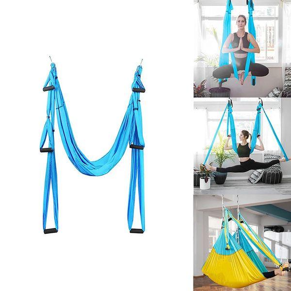 Fitness Yoga Hammock Yoga Swing Antigravity Ceiling Hanging Yoga Hammock Yoga Swing Inversion Aerial Straps High Strength Fabric Decompression With 6 Grip Hand Wish