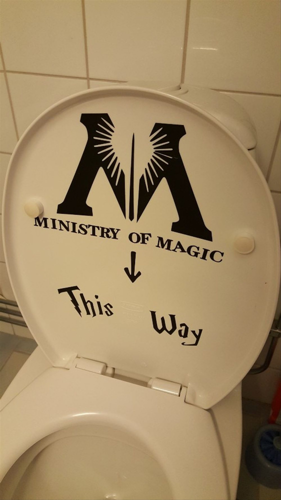 Wish | Art Design Ministry of Magic Bathroom Wall Sticker Home Decor ...