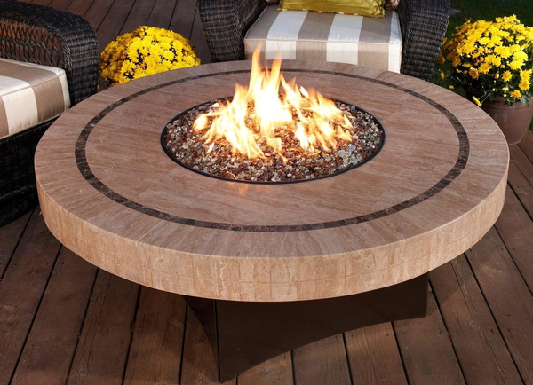 - Wish Oriflamme Fire Table Sahara Stone Fire Pit Table [ORI-SAHARA]
