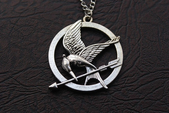 Necklace, hungergamesjewellery, cutenecklace, hungergamesnecklace