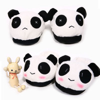 Cute Cartoon Couples Panda Style Winter Warm Slippers Male Female #L035304