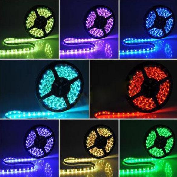 Picture of 5m 300led Flexible Light Strip 3528 Smd Waterproof Rgb 44 Key Rc Eu Power Size 24 Color Multicolor