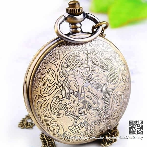 Wish pocket watch vintage retro style necklace locket pendant wish pocket watch vintage retro style necklace locket pendant chain pwat0100 aloadofball Choice Image
