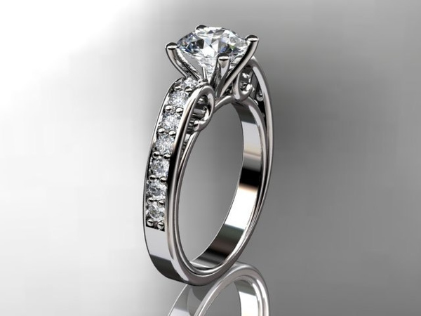 Wish 14kt White Gold Diamond Unique Engagement Ring Wedding Ring
