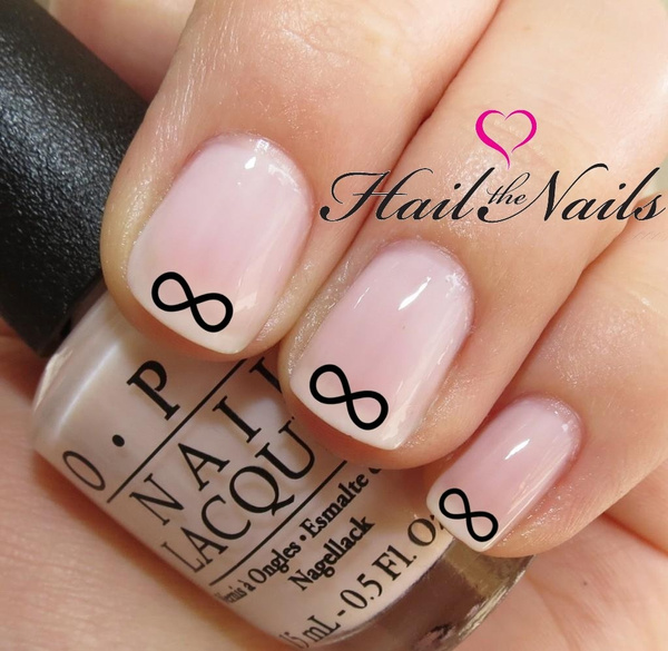 Wish Nail Art Water Transfer Decal Infinity Stickers Y069