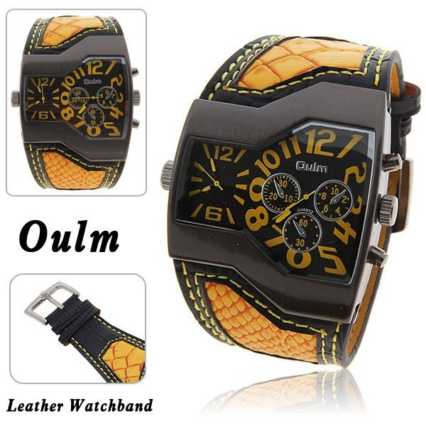 wish new oulm military watches double movement watch leather wish new oulm military watches double movement watch leather watch fashion men s watch