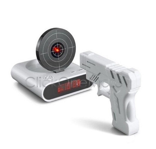 Picture of Ple - Laser Target Gun Shoot To Stop Game Alarm Clock Lcd Screen Novelty Gift