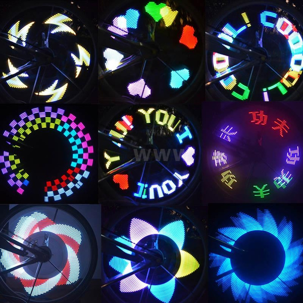 Picture of Colorful Rainbow Led Wheel Signal Lights For Bikes Bicycles H8761