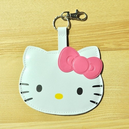 Hello Kitty Die-cut Luggage Name Tag PVC Leather Pink Sanrio