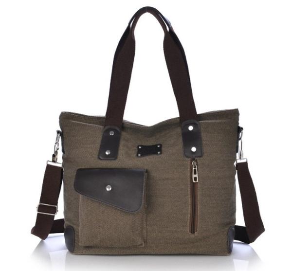 Picture of Men Retro Women Large Capacity Canvas Totes Bag Shoulder Bags Hand Bag