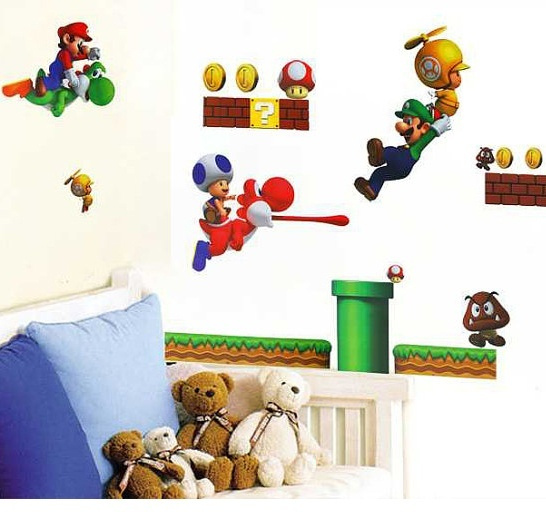 Wish | Super Mario Bros Wall Decals For Kids Nursery Mario Wall Decals  Super Mario Decal Mario Decor