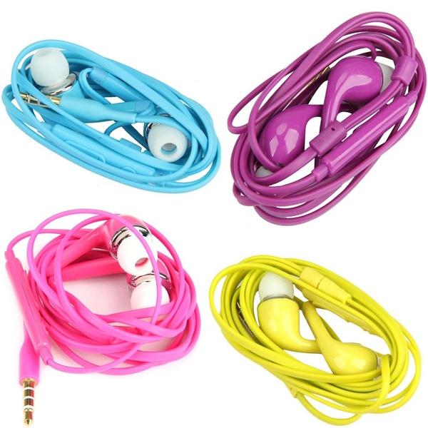 Picture of Hands-free Earphone 3.5mm Mic Vol Control For Samsung/htc/ All 3.5mm Udio Jack