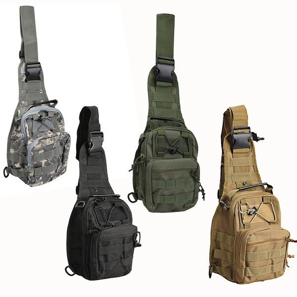 Picture of Outdoor Crossbody Shoulder Bag Nylon Military Haversack Tactical Casual