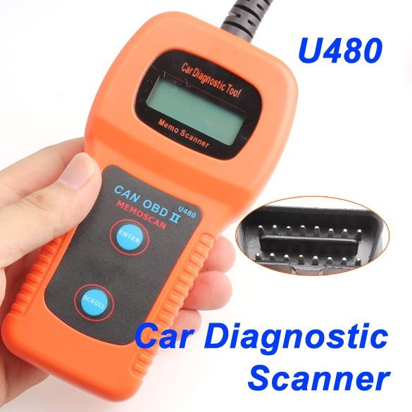 U480 Car Auto Diagnostic Scanner Tool OBD2 OBDII EOBD CAN BUS Engine Code  Reader