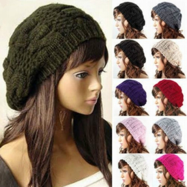knitted, Fashion, capelastic, ladyberet