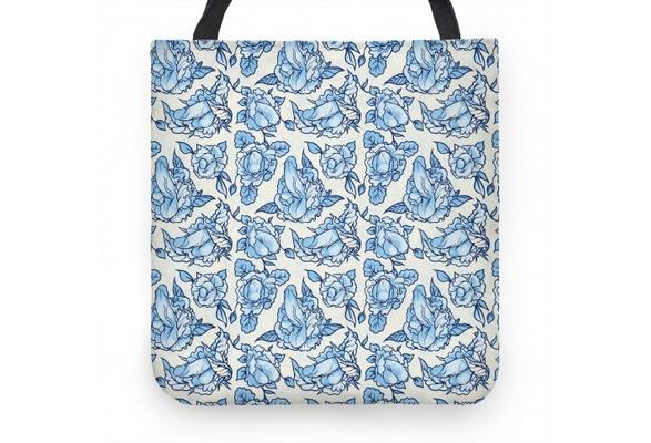 fa84df67e1 Floral Penis Pattern (13x13 Inch Tote Bag)