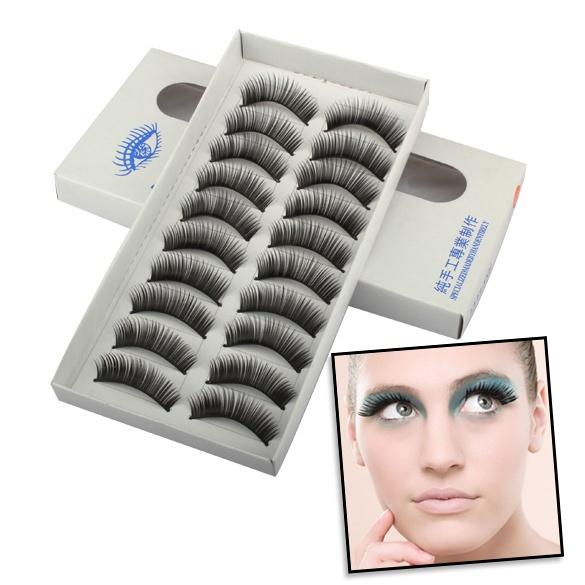 Picture of 11 Styles 10 Pairs Black False Eyelashes