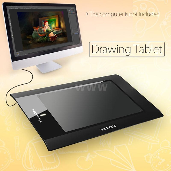Picture of 10 Art Graphics Drawing Tablet Cordless Digital Pen For Pc Laptop Computer Mouse Accessories C1405 Size 10 Inch Color Black