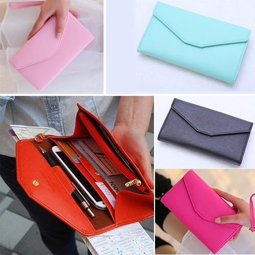 Picture of Elegant Lady Envelope Leather Wallet Purse Bag Case Cover For Iphone 4 4s 5 5s Htc One X Samsung S3 S4 Note 3