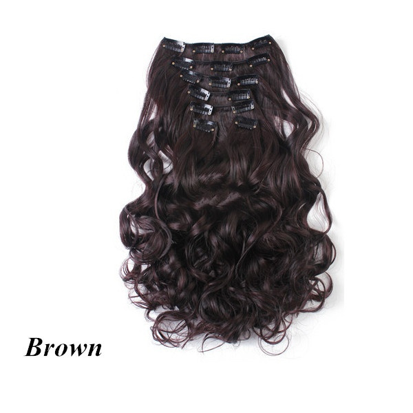 Wish Clip In Hair Extension Wavy Synthetic Hair Extension Curly