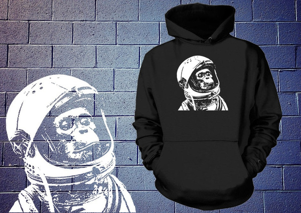 Chimp Sweatshirt Astronaut Sweater Monkey Space Wb0QiQprSK
