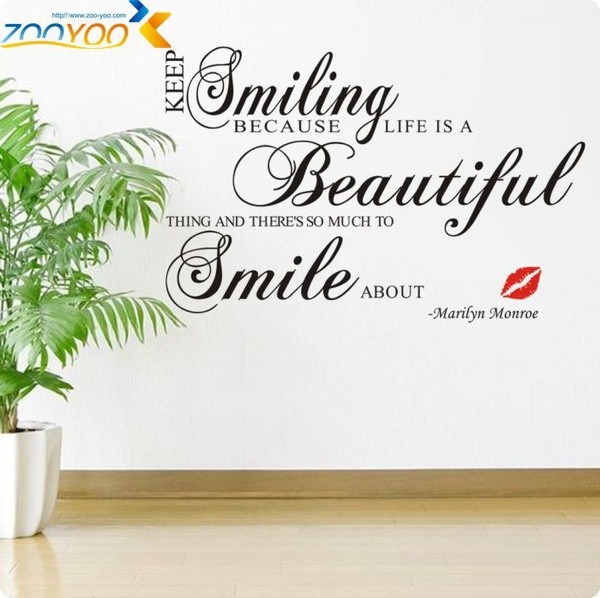 Marilyn Monroe Lip Keep Smiling Vinyl Wall Art Decals Quotes Saying Home Decor Christmas Wall Stickers  sc 1 st  Wish & Wish | ?Marilyn Monroe Lip Keep Smiling Vinyl Wall Art Decals Quotes ...