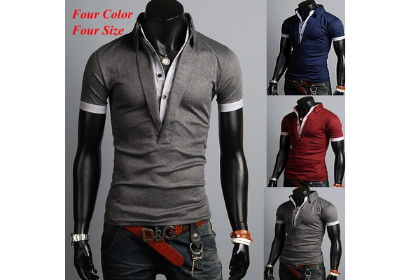 New Fashion Men Korean Style Cotton Short Sleeves Polo Shirt (M/L/XL/XXL)