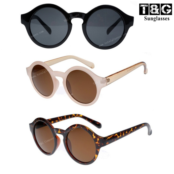 Women/'s Vintage Fashion Keyhole Sunglasses Round Circle Frame