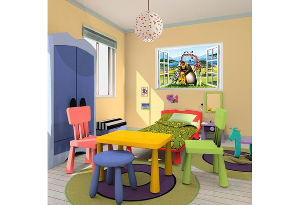 Wish | Wall Decal Ainmal world Wall sticker for kids rooms 3D Fake ...
