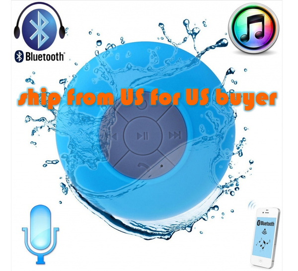 Waterproof Wireless Car Bathroom Suction Speaker Bluetooth Handsfree Mic Shower