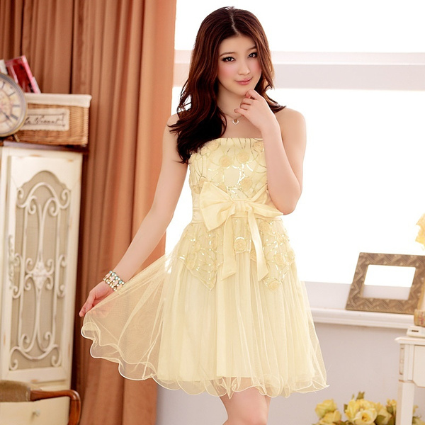 New Arrival Summer Dress Candy Color Lace Dress Sweet Girls Graduation Dress Short Party Evening Sexy Club Dress Bow Jewelry Pleated Skirt Sleeveless