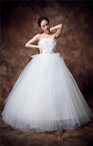 Wish Tall Waist Wedding Dress That Wipe A Bosom Plus Size