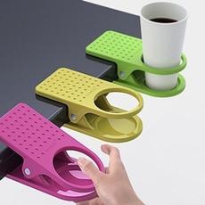 Color Random Plastic Home Office Desk Table Cup Clip Holder Stand Mount