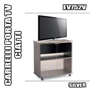 Wish | RBN 07 CARRELLO PORTA TV CIATTI EV752 SILVER MOBILE CON RUOTE ...