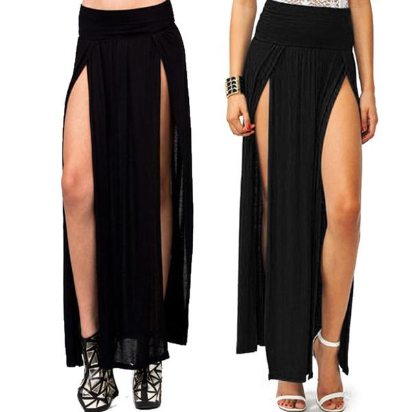 Double High Slit Maxi Dress