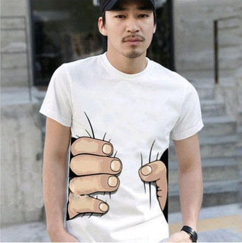 042,10 colors big Hand t shirt!Man men clothes Printing Hot 3D visual creative personality spoof grab your cotton T-shirt shirt