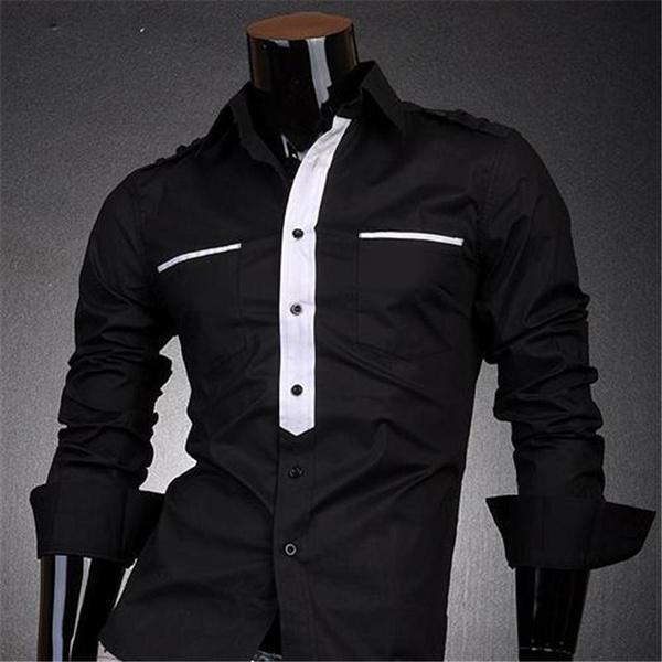 Fashion, Dress, slim, cool shirts