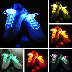 HOT SELLING 2pcs/lot Cool goods Colorful Flash Shoelace party Funny Toys gift Creative luminous lace for Cycling running Dances festivals
