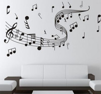 wall sticker Music notation. 0855 stickers manufacturers supply fashion hand-painted decorative art stickers for home deco vinyl