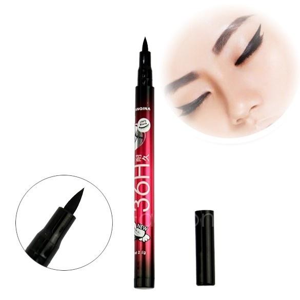 Picture of New Black Waterproof Liquid Eyeliner Pen Black Eye Liner Pencil Makeup Cosmetic 2.5g Vvf