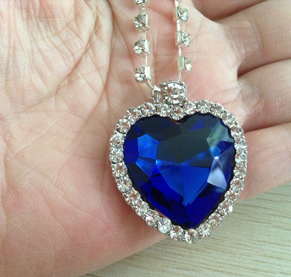 Wish pretty titanic heart of the ocean blue crystal necklace wish pretty titanic heart of the ocean blue crystal necklace pendant best gift aloadofball Image collections