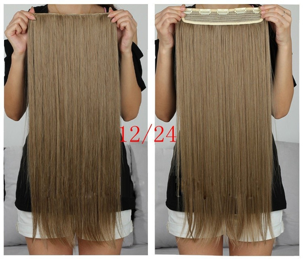 Wish New Long 60cm Ladies Clip In On Hair Extensions Straight