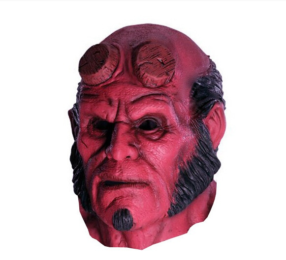 wish full overhead marvel comic hellboy hell boy red devil halloween costume mask